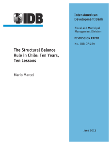 The Structural Balance Rule in Chile: Ten Years, Ten Lessons