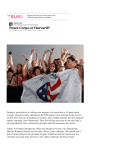 Peace Corps or Harvard - Macaulay Honors College