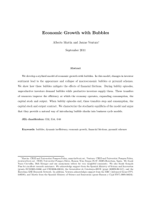 Economic Growth with Bubbles