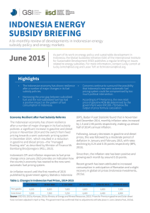 indonesia energy subsidy briefing