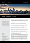 Market Commentary - July 2016