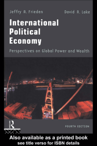 International Political Economy: Perspectives on Global Power and