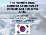 The Maritime Tiger: South Korea`s Interests and