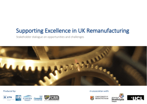 Supporting Excellence in UK Remanufacturing - Connect