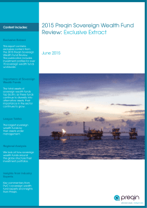 2015 Preqin Sovereign Wealth Fund Review: Exclusive Extract