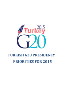 TURKISH G20 PRESIDENCY PRIORITIES FOR 2015