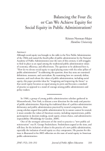 or Can We Achieve Equity for Social Equity in Public Administration?