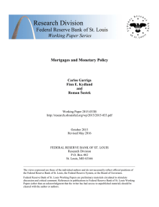 Mortgages and Monetary Policy