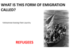 WHAT IS THIS FORM OF EMIGRATION CALLED? REFUGEES Vietnamese leaving their country