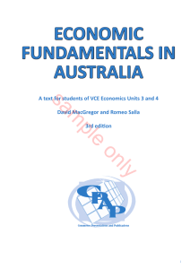 sample only ECONOMIC FUNDAMENTALS IN