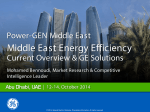 Middle East Energy Efficiency Power-GEN Middle East Current Overview & GE Solutions