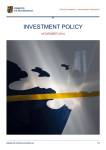 INVESTMENT POLICY NOVEMBER 2014  PRIVATE BANKING – INVESTMENT RESEARCH