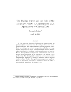 The Phillips Curve and the Role of the Monetary Policy: A