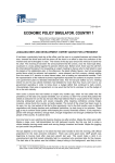 ECONOMIC POLICY SIMULATOR. COUNTRY 1 - multimedia