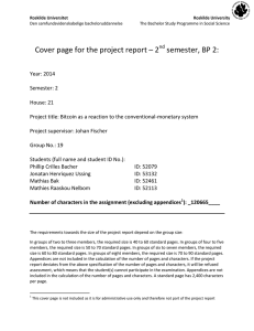 Cover page for the project report – 2 semester, BP 2: