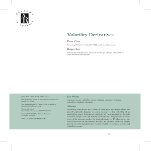 Volatility Derivatives