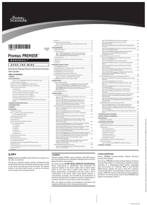 Promus PREMIER™ - Directions for Use (if your