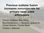 Previous subtalar fusion increases nonunion rate for primary open
