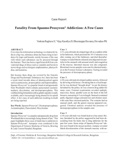 Fatality From Spasmo-Proxyvon® Addiction: A Few Cases