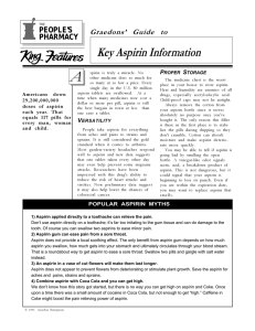 Key Aspirin Information