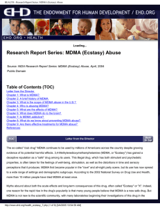 Research Report Series: MDMA (Ecstasy) Abuse