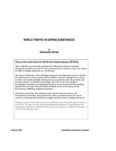 world traffic in doping substances