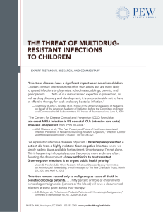 The Threat of Multidrug-Resistant Infections to Children