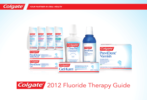 2012 Fluoride Therapy Guide