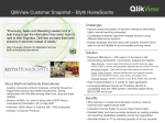 QlikView Customer Snapshot – Blyth HomeScents