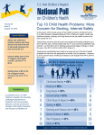 Top 10 Child Health Problems - National Poll on Children`s Health