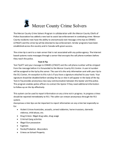 Mercer County Crime Solvers