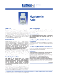 Hyaluronic Acid - Green and Healthy