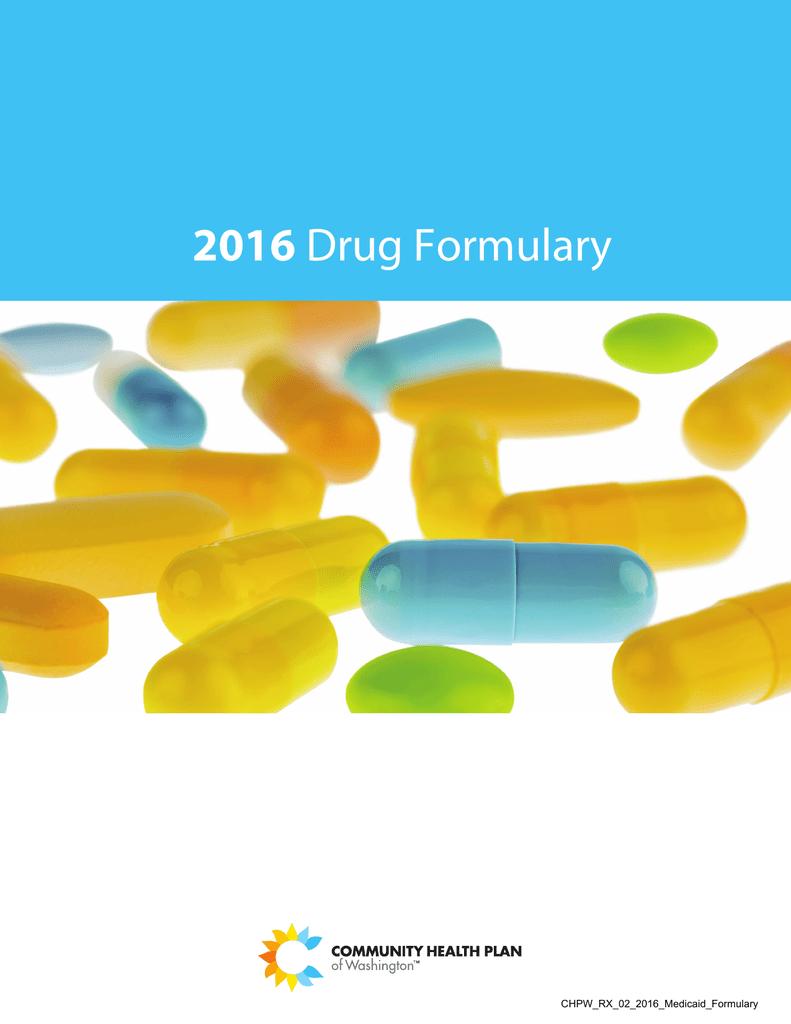 CHPW Medicaid Formulary - Community Health Plan of Washington