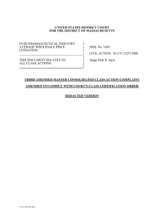 Third Amended Master Consolidated Class Action Complaint