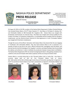 PRESS RELEASE - Nashua Police Department