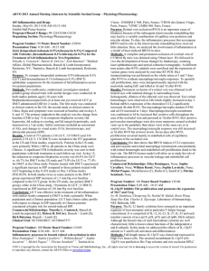 ARVO 2013 Annual Meeting Abstracts by Scientific Section/Group