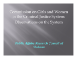 Commission on Girls and Women in the Criminal Justice System