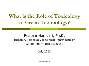 Toxicology - GreenTech Exchange