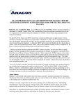 ANACOR PHARMACEUTICALS AND MEDICINES FOR MALARIA