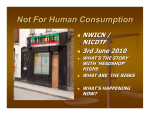 Not For Human Consumption - North Inner City Drugs Task Force