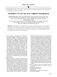 Guidelines of care for acne vulgaris management