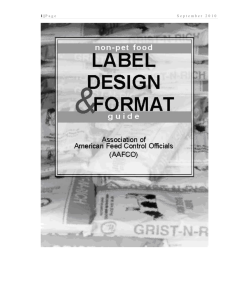 Label Design and Format Guide