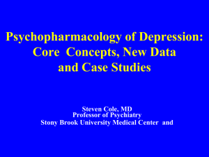 Psychopharmacology of Depression