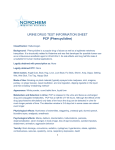 URINE DRUG TEST INFORMATION SHEET PCP