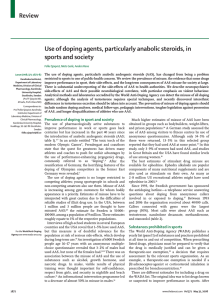Review Use of doping agents, particularly anabolic steroids, in sports and society