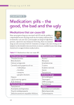 Medication: pills – the good, the bad and the ugly