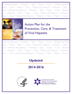 Action Plan for the Prevention, Care, & Treatment of Viral Hepatitis Updated