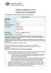 NATIONAL COMMISSION OF AUDIT COVER SHEET FOR SUBMISSIONS Dr