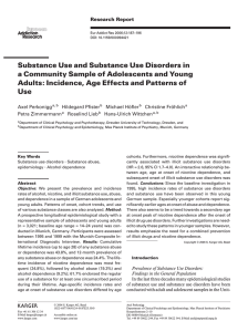 Substance Use and Substance Use Disorders in