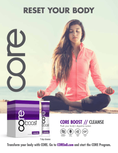 RESET YOUR BODY CORE BOOST // CLEANSE